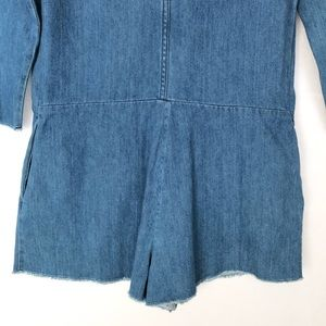 f56c99c09b99 Zara Pants - NWT Zara Trafaluc Denim Romper Jumpsuit S Frayed